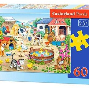 Castorland Farm 60 pcs Puzzle - Rompecabezas (Puzzle Rompecabezas, Dibujos, Niños, Niño/niña, 5 año(s), Interior)