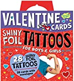 Peaceable Kingdom Shiny Foil Tattoo Valentines - 28 Card Pack