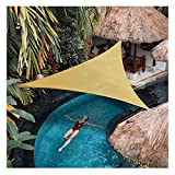 CCNTSW Triangle Shade Sail 12 x 12 x 12 Feet 95% 200GSM UV Block Canopy Sun Shade Cloth for Outdoor Patio Lawn Garden Backyard Sand