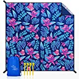 OCOOPA Beach Blanket Sandproof, 10'X 9' Extra Large, Soft and Durable Material, Sand Free Waterproof, Light Weight and Portable, Perfect for Travel Camping, Beach Vocation, Nile Garden