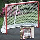 EZGoal Hockey Folding Pro Goal, 2-Inch, Red/White – On Goal Net