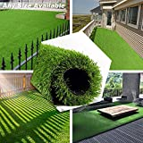 PET GROW Realistic Artificial Grass Rug - Indoor Outdoor Garden Lawn Patio Balcony Synthetic Turf Mat - Thick Fake Grass Rug 3.3 FT x5FT(16.5Square FT)