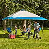 Coleman 13' x 13' Instant Eaved Shelter Pop Up Canopy Gazebo Tent Shade in Blue, Perfect For Your Backyard, Party, Outdoor Event, Outing, Beach