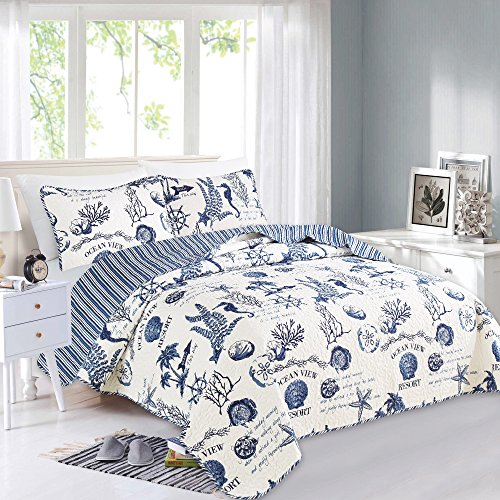 Great Bay Home 3 Piece Quilt Set with Shams. Soft All-Season...
