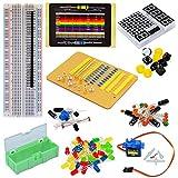 TOLAKO Electronic Component Starter Kit for Arduino Breadboard, LED, Dot Matrix,Resistor, Capacitor, Breadboard