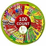 Mexican Candy Mix Assortment Bag (100 count) Bulk Candy Variety of Spicy, sour and sweet Dulces Mexicanos Gift Box, Best sellers Such as Lucas, Pelon, Duvalin, Rockaleta, salsaghetti, Pulparindo, Mazapan By Vexillum (Mild)