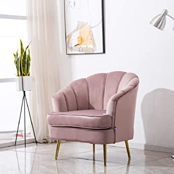 Hodge And Hodge Dusky Pink Oyster Tub Chair Plush Velvet Fabric Cover And Shell Stitched Back This Modern Accent Chair Is Ideal For Relaxing At Home Lounge Bedroom Dining Or Office Amazon Co Uk