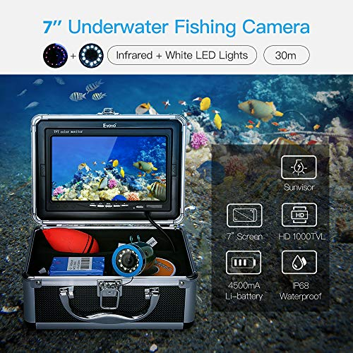 Eyoyo Ecoscandaglio 7 30M LCD TFT Monitor IR + LED Luci Pesca FishFinder Detector Subacquea Camera Fish Finder Video Fishfinder