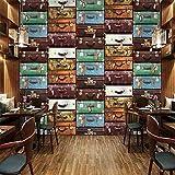Tamaño personalizado Maleta europea Pintura de pared Papel tapiz 3D Sala de estar Sofá TV Fondo Pared Decoración para el hogar Mural 3D Papel De Pared, 300cm×210cm