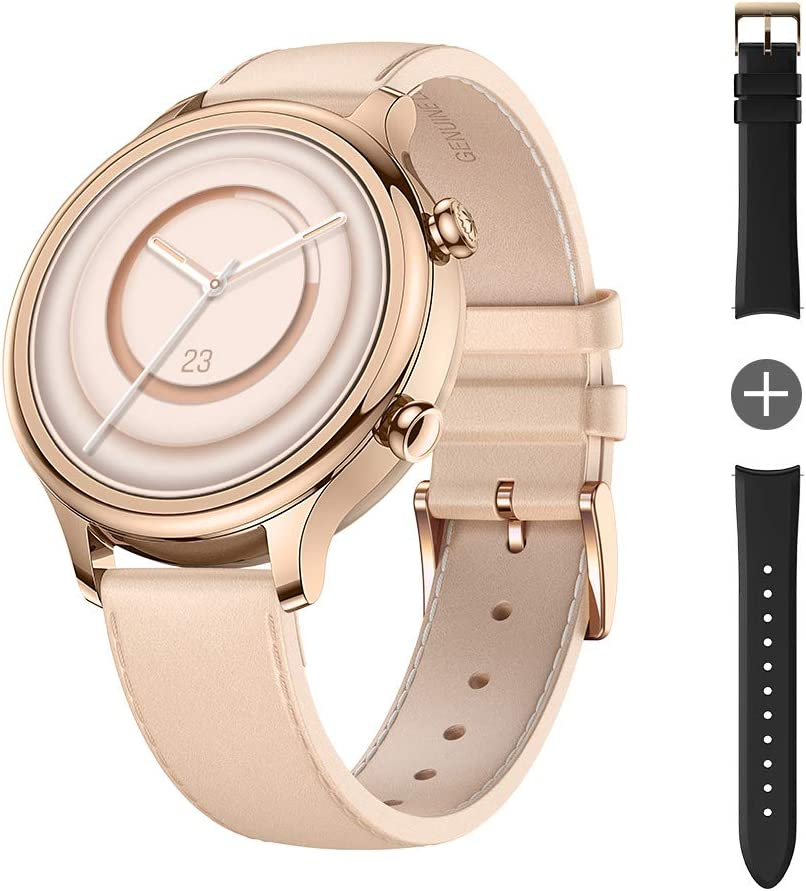 TicWatch C2 Plus 1GB RAM Wear OS by Google GPS NFC Payment IP68 Water and Dust Proof Smartwatch, Two Straps Included, iOS and Android Compatible (Rose Gold)
