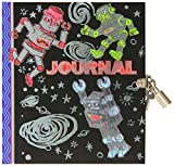 eeBoo Robot Hardcover Diary Journal with Lock and Key