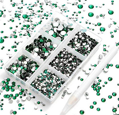AD Beads 4300 Pieces Flat Back Gems Crystal Rhinestones...