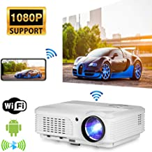 WiFi Movie Projector, 4400 Lumen 1080P Full HD Supported Video Projector, Wireless..