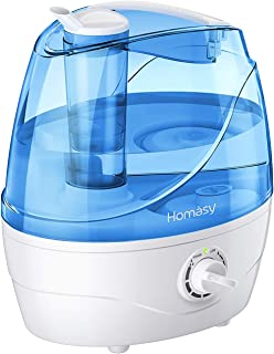 Homasy Cool Mist Humidifier, 28dB Whisper-Quiet Humidifier for Bedroom, Easy to Clean and..