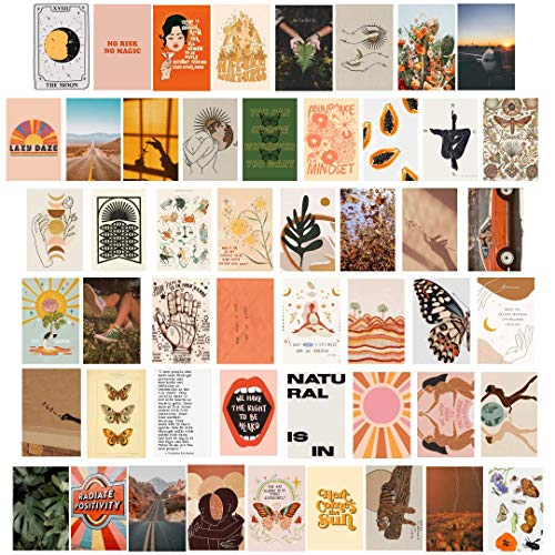 Aesthetic Wall Collage Kit- Kit comes with 50 4x6 prints on thick...