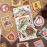 BLOUR 60 unids/Pack Pegatinas de papelería Kawaii facturas Retro DIY artesanía álbum de Recortes Diario Basura Diario planificador Feliz Pegatinas