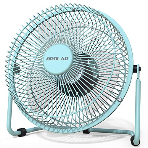 OPOLAR 6 Inch Desktop USB Fan, USB Powered Table Fan for Personal Cooling, Small Desk Fan with Upgraded 2 Speed Setting, Quiet Operation, Enhanced Airflow, Bronze