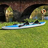 AQUATEC Kayak | Inflatable Sea & Fishing Kayak | Inflatable Boat Available as Single or Double Kayak | Bag & Kayak Paddles Included (Double (Tandem), Ottawa (Pro))
