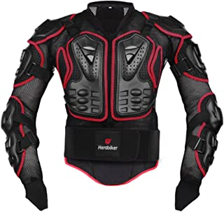 HEROBIKER Motorcycle Full Body Armor Jacket spine chest protection gear Motocross Motos..