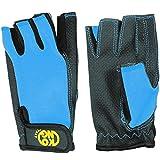 Desconocido Kong Guantes Pop Gloves, Azul/Negro, XL