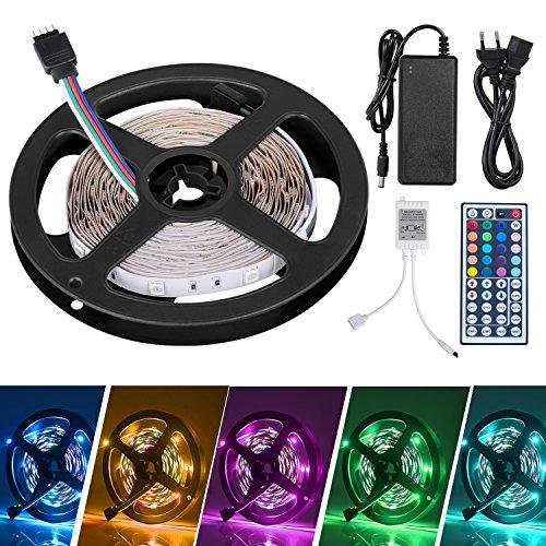 LED Striscia 5M RGB 5050,Duractron led striscia 150 led per Natale,Feste, Decorazioni.(Non Impermeabile)