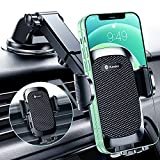 Humixx Car Phone Holder Mount [ Military-Grade Super Suction & Stable ] Universal Hands-Free Cell Phone Holder for Dashboard Windshield Air Vent Car Mount for iPhone 13/12 Samsung All Phones & Cars