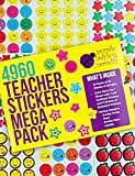 Purple Ladybug Teacher Stickers for Kids Mega Value Pack! 4960 Reward Stickers for Teachers & Incentive Stickers Sheets in Bulk for Classroom & School Use - with Star Stickers & Smiley Face Stickers!