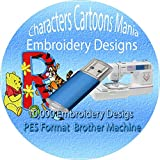 11,000+ Children Characters Famous Cartoon Embroidery Designs Machine Designs Brother PES File 1GB USB Memory