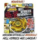 Hell Kerbecs TRES RARE - Version officielle intÃgrale avec lanceur - Nouvelle saison Beyblade Metal Fusion 2 (Metal Masters)