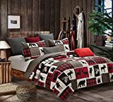 Virah Bella Collection Phyllis Dobbs Lodge Life Polyester Full/Queen Quilt Bedding Set with 2 Standard Shams