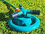 Oranlife Lawn Sprinkler, 360 Degree Rotating Garden Sprinkler Adjustable Garden Water Sprinklers Irrigation System with Durable 3 Arm Sprayers