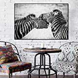 Zebra Wall Art Pintura Carteles e Impresiones sobre Lienzo Arte de la Pared imágenes de Animales para la Sala de Estar decoración nórdica del hogar 50x75cm