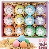 Boules de bain 12pcs coffret cadeau de bain moussant organique naturel, riche en bain...
