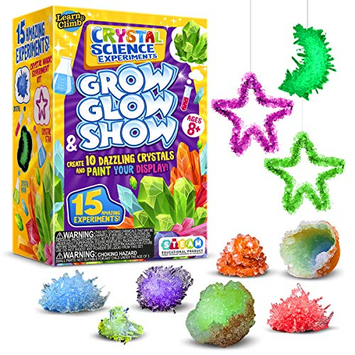Learn & Climb Crystal Growing kit for Kids. Science...
