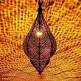 Lampe Suspension Luminaire marocaine Kihana 40cm Dorée E14 Douille   Plafonnier...