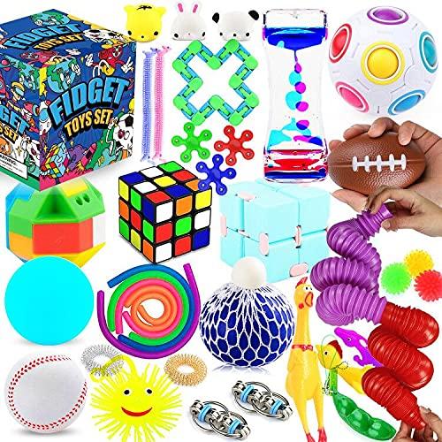 Fidget Toys Set, 36 Pack Sensory Tools Bundle for Stress...