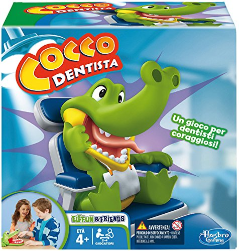 Hasbro Gaming - Cocco Dentista (Gioco in Scatola), B0408103, 4 anni +