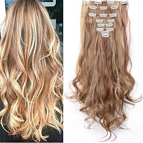 S-noilite® 24' (60 cm) extensiones de cabello cabeza completa clip en extensiones de pelo...