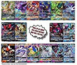 100 Pokemon Cards Plus 20 Energy - Bonus 2 Legendary and/or Ultra Beast Pokemon GX or V Ultra Rare Cards! Includes Coin and Golden Groundhog Treasure Chest Storage Box!