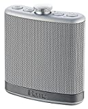 iHome Portable Rechargeable Flask Shaped Bluetooth Wireless Stereo Speaker with Integrated Mic, Silver (Non-Retail Packaging)