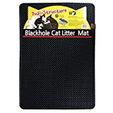 Blackhole Litter Mat - Moonshuttle Rectangular Cat Litter Mat, 30 X 23-Inch, Dark Gray