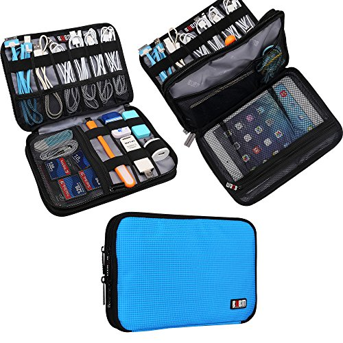 Universal Double Layer Travel Gear Organiser/Custodia da Viaggio Universale per dispositivi...