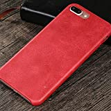 VIVICOM Leather Ultra Slim Thin Case for iPhone 7, iPhone 8 Luxury Soft PU Full Protective Anti Fingerprint Shockproof Cover (Red)