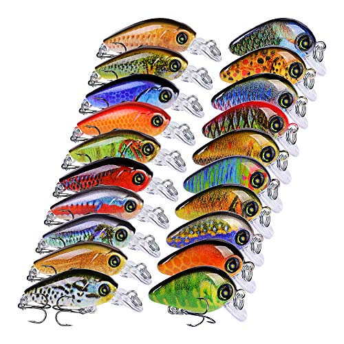 Sunlure Crankbaits Fishing Lures Kits Swimbait Wobbler Hard Baits Mini Lure for Bass Trout Pike...