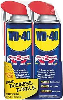 WD-40 – 490224 Multi-Use Product with SMART STRAW SPRAYS 2 WAYS, 14.4 OZ [2-Pack]