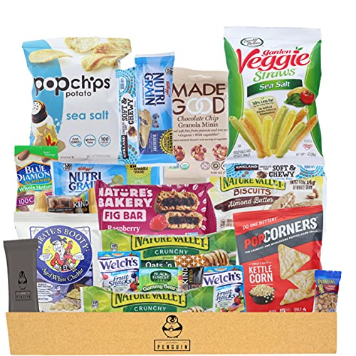 Premium Penguin Healthy Snacks Care Package - (20 Count...
