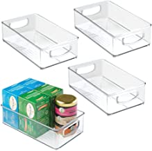 mDesign Plastic Kitchen Pantry Cabinet, Refrigerator or Freezer Food Storage Bins with..