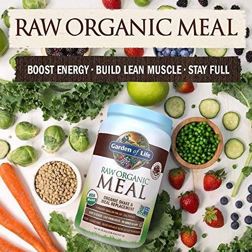 Garden of Life Meal Replacement - Organic Raw Plant Based Protein Powder, Chocolate, Vegan, Gluten-Free, 35.9oz (2lb 4oz/1,017g) Powder 8