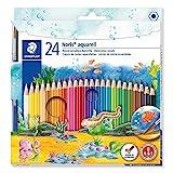 Staedtler Noris Aquarell, Crayons de couleur aquarellables avec système...