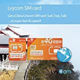 China SIM Card 2GB 4G Data + 100 mins to US or Canada + 50 mins Local Calls or 100 Local Texts,! Free Incoming Calls and Texts!